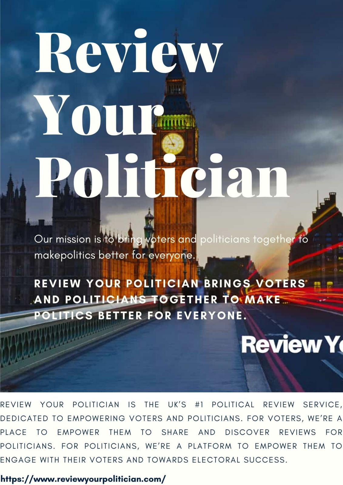 Review Your Politician | We Connect Voters With UK Politicians