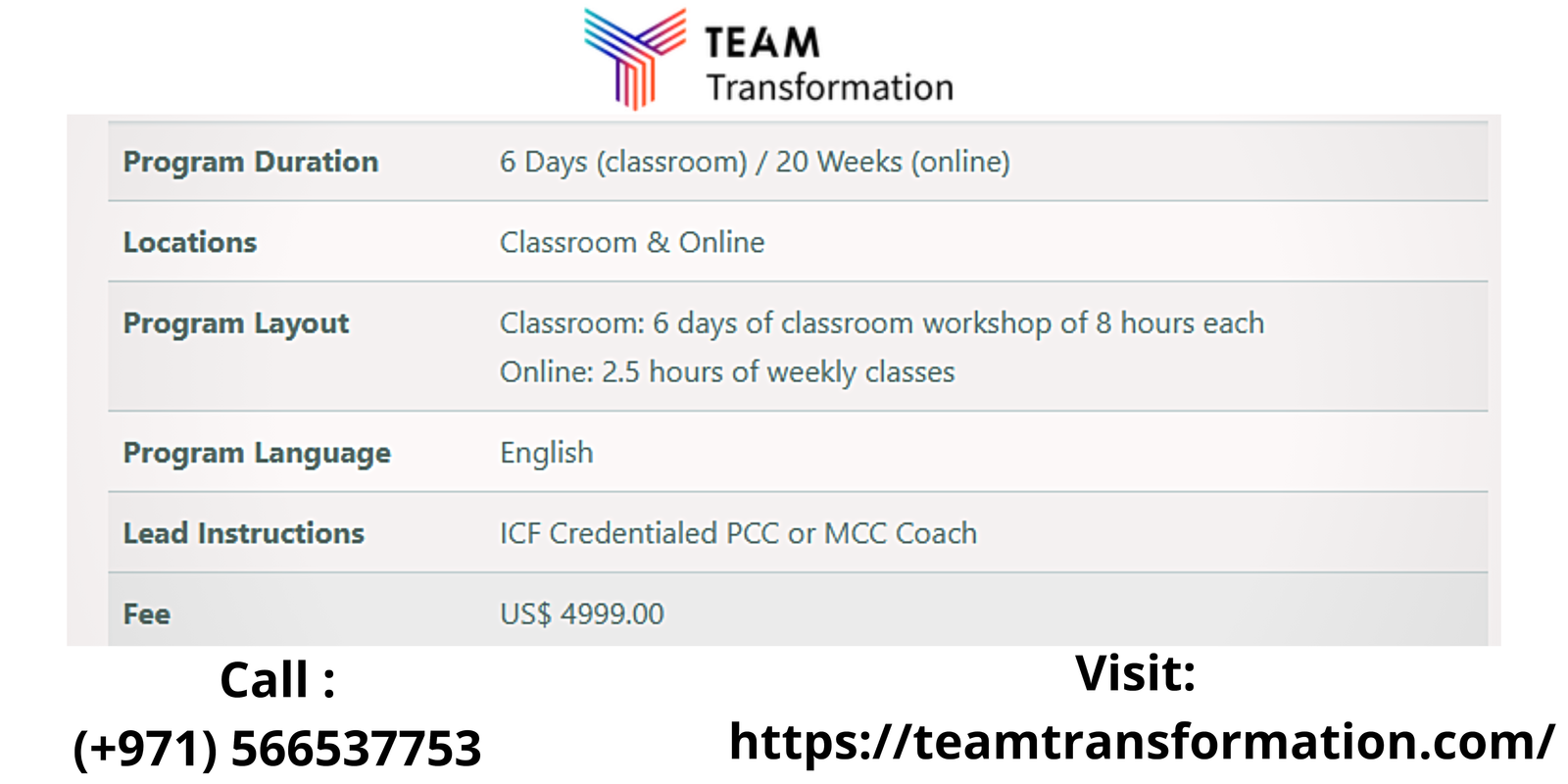 Best ICF Coaching Certification at Team Transformation