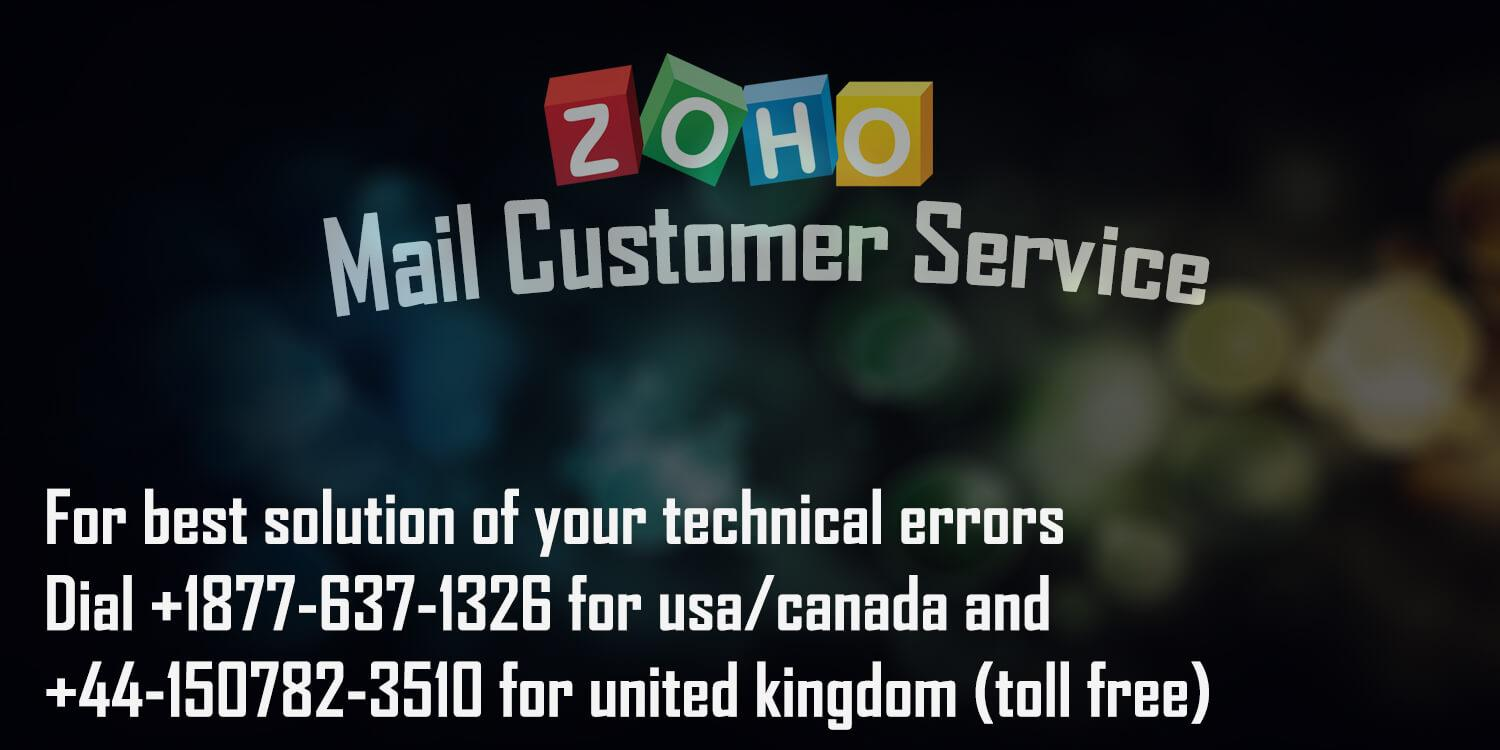 Zoho Mail Customer Service by webmailhelps