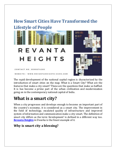 How Smart Cities Have Transformed the Lifestyle of People By Rev