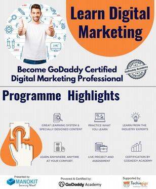 Digital Marketing Course Certificate Manokit Technologies