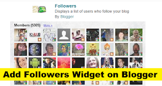 How to Add Followers Widget on Blogger with Pictures
