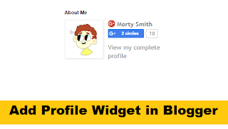 How to Add Profile Widget in Blogger with Pictures