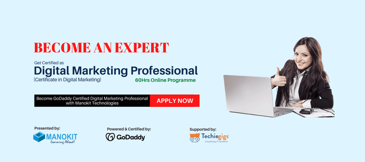 Online Digital Marketing Certificate Course - Manokit Technologi