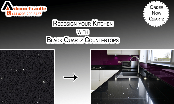 Black Quartz Countertops: For Kitchen Design Quartz Countertops