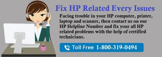 HP Helpline Number 1-800-319-0494, Toll Free