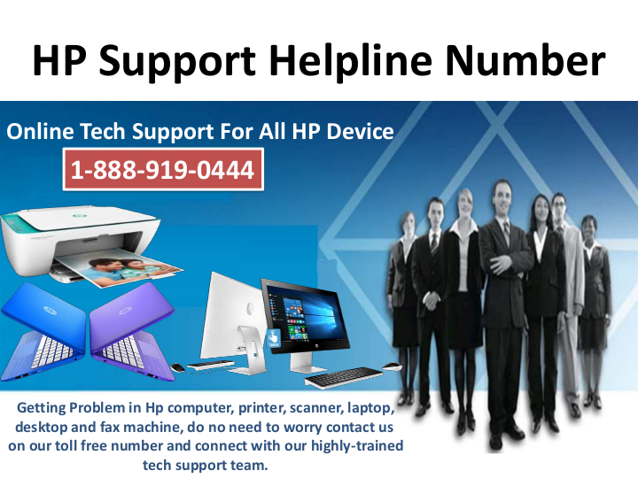 HP Support Helpline Number 1-888-919-0444, Toll Free