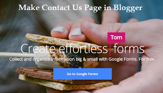 How to Make Contact Us Page in Blogger with Pictures