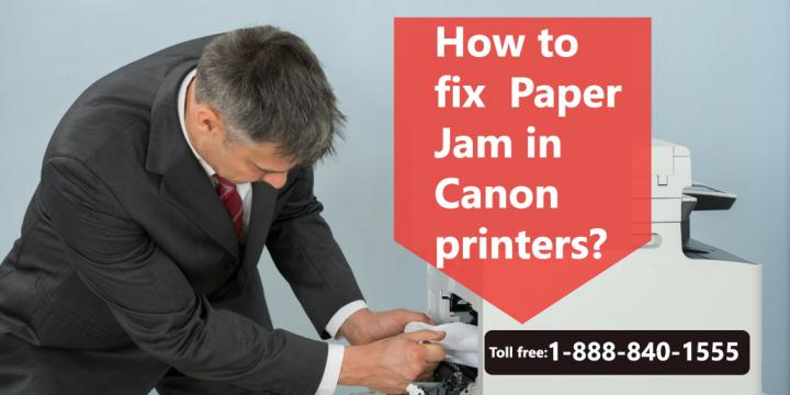 How to fix Paper Jam Issues in Canon printers, Call 1-888-840-15