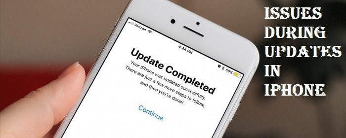 Issues During Updates in iPhone