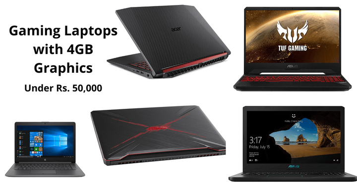 5 Best Gaming Laptops Under 50000 With 4GB Graphics Card